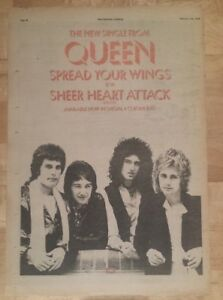 Queen-Spread-your-wings-1978-press-advert-Full-page-28-x-39-cm-poster