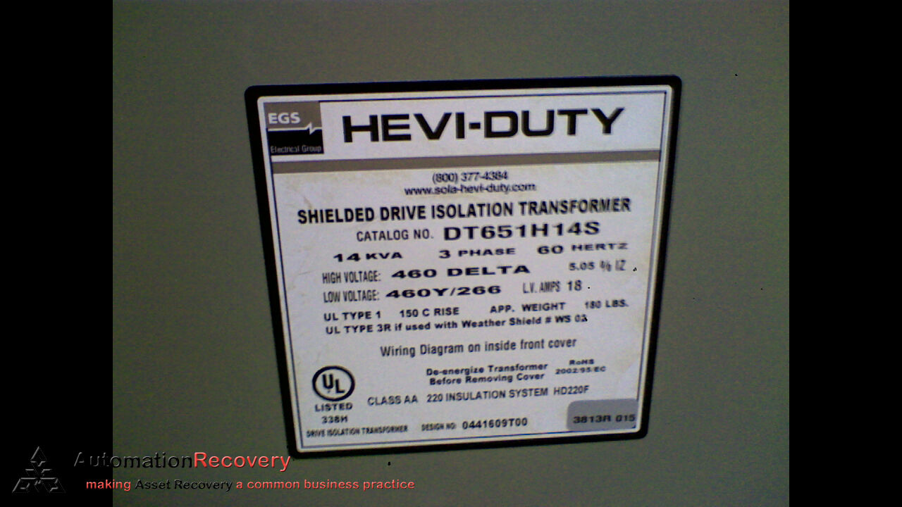 Hevi Duty Transformer Wiring Diagram from i.ebayimg.com