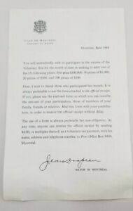 Printed-Letter-1968-From-Mayor-Jean-Drapeau-Montreal-Re-Voluntary-Tax-Lottery