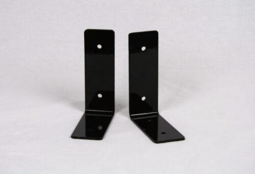 """set of two 4x5/"""" Light Duty Glossy Black Steel Shelf Brackets"""