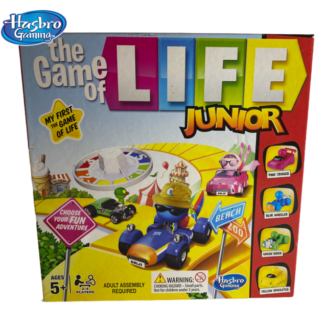 The Game Of Life Junior Board Game by Hasbro Gaming .   -Complete-