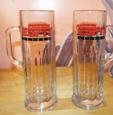 SET OF 2 ESPN SKYBOX GLASS BEER MUGS. LIBBEY USA. EXCELLENT CONDITION.
