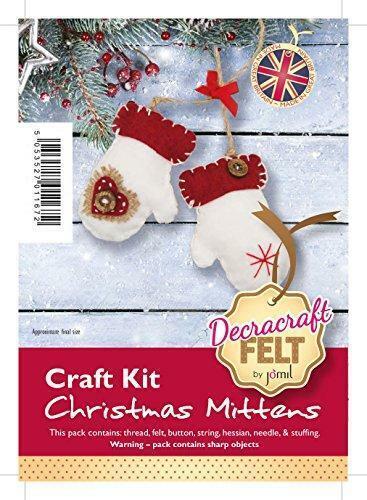 Kit de arte de la Navidad Mitones decracraft Fieltro
