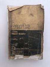 Caterpillar 140 G Motor Grader Parts Manual