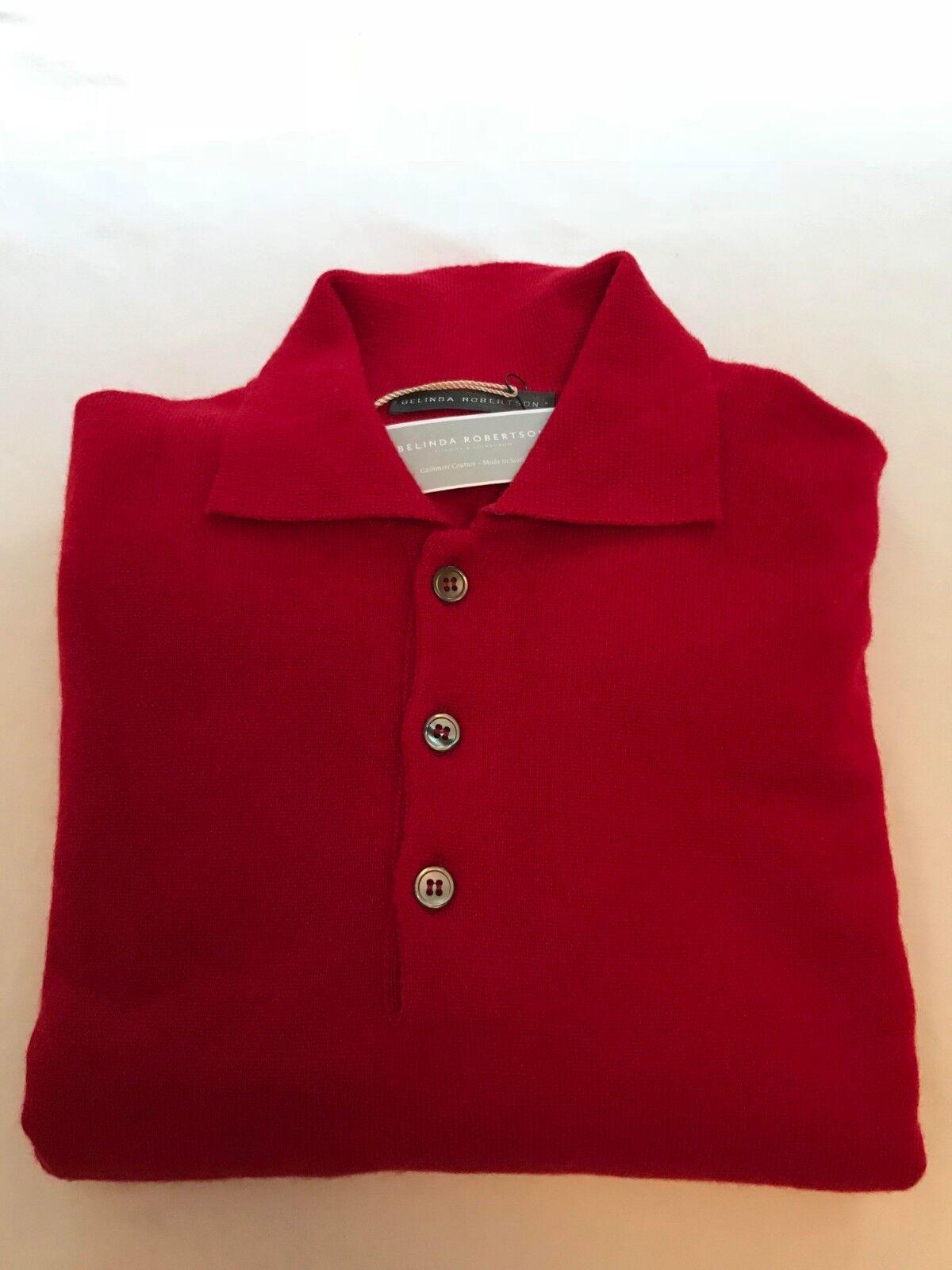 Belinda Robertson 100% CASHMERE Scozzese Uomo Sportshirt sweater
