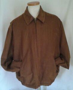 Gary-Player-Brown-Soft-Zip-Up-Golf-Jacket-coat-Men-039-s-L