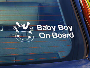 Static Cling Window Car Sign//Decal 3 Grandsons on Board 100mm x 250mm