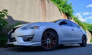 Set Of 4 Gwg Wheels 18 Inch Black Red Zero Rims Fits Nissan Altima