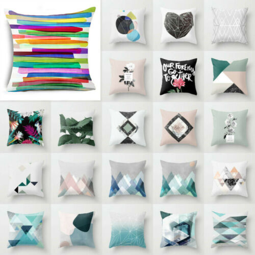 Bohemian Geometry Cotton Linen Pillow Case Cover Waist Cushion Cover Home Decor