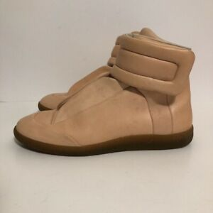 tan high top shoes