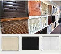 New Pvc Venetian Blinds Window Blind - Black Cream White All Sizes Home Office