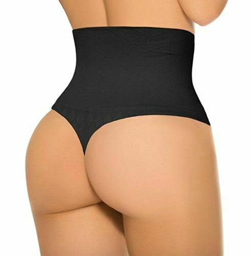 Soft Undetectable Thong High Waist Tummy Control Shaper Underwear G Strings