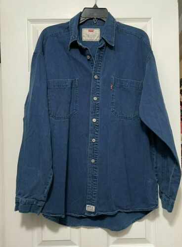 90s Vintage Levis Red Tab Jeans Shirt Size L (Over