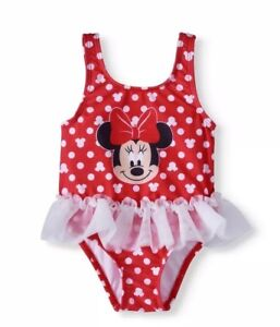 6aadfcc26 Minnie Mouse-Girls-Size 3- 6 Months-Polka Dot-Tutu-1 Pc-Swimsuit ...