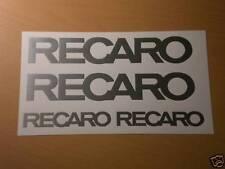RECARO Aufkleber Set Hosenträgergurte Tuning Show Car Rennsport Schalensitz NEU