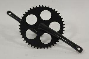 Bicycle Crank Arm  One Piece Crank 170mm Black Bike Crank Arm One Piece