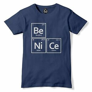 Be nice element symbol t shirt periodic table tshirt chemistry image is loading be nice element symbol t shirt periodic table urtaz Gallery