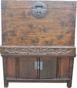 Large Chinese Chest Large Compound Cabinet Chest Trunk Drip-Dry 05-026