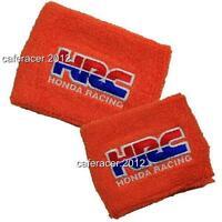 Hrc Honda Brake/clutch Reservoir Socks Fluid Tank Cover Orange Cbr 600rr 1000rr