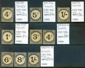 Trinidad-amp-Tobago-1885-to-1905-rune-of-9-postage-dues-mint-nh-2020-02-07-03
