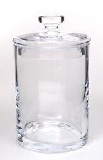 Glass Handmade Mouth Blown Bonbon Jar With Lid  H-22 cm