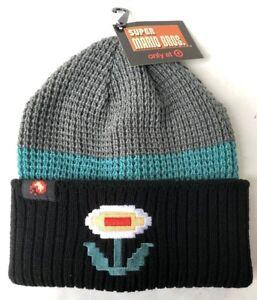 61ce04af615 Nintendo Super Mario Bros FIRE FLOWER Knit Beanie Winter Hat Cap ...