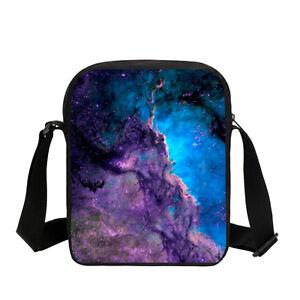 Colorful Cloud Print Small Shoulder Bag Girl Boy Sky Space School ... 3f40443f8e68f