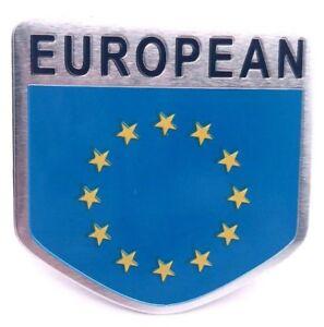 Sticker-Aufkleber-Auf-Kleber-Emblem-Europa-Europe-Auto-Metall-selbstklebend-EU