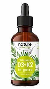 Vitamina D3 K2 50ml in Gocce, Vitamina D3 Colecalciferolo 1000 UI per Gocci