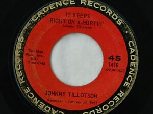 Johnny Tillotson on Cadence Records / 45 RPM / It Keeps