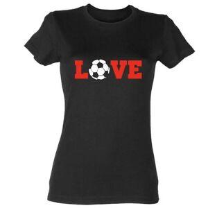 Love-Fussball-Damen-T-Shirt