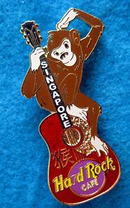Singapore-Hrc-Anno-di-Scimmia-Scimpanze-Chitarra-2004-Hard-Rock-Cafe-Pin-Le