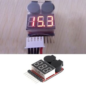 1-8S-Lipo-Li-ion-Fe-RC-Boat-Battery-2-In-1-Tester-LED-Low-Voltage-Buzzer-Alarm