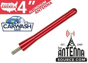 """**SHORT**  4/"""" ALUMINUM RED ANTENNA-FITS 1999-2016 Ford F-250 Super Duty"""