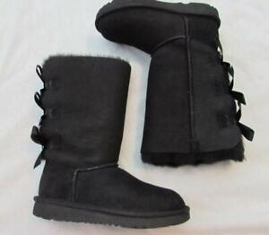 Details about UGG girls black Bailey Bow Tall II triple boots szs 13 and 3 1090529K NEW in box