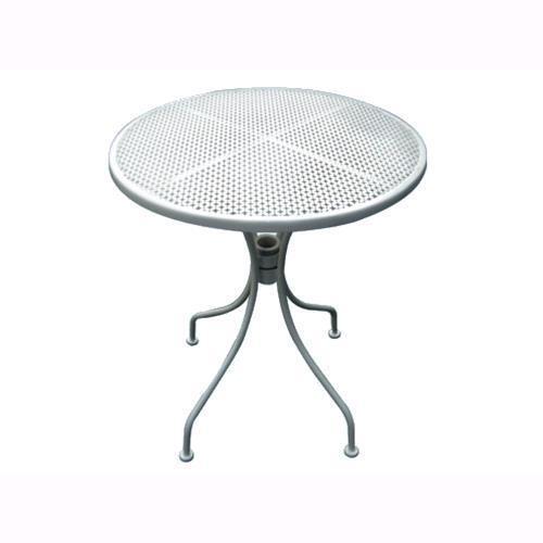 Tavolino Tondo Da Giardino Mod Bistrot Body White Acciaio Bianco Ø 60xh71cm