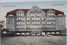 10327 AK Kaiserslautern Rupprecht Schulhaus Schule 1915 mit Rot Kreuz  Fahne