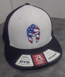 59a1c84e345d6 RICHARDSON PTS20 FLEXFIT CAP sz SM-MED w  US FLAG SPARTAN PUNISHER