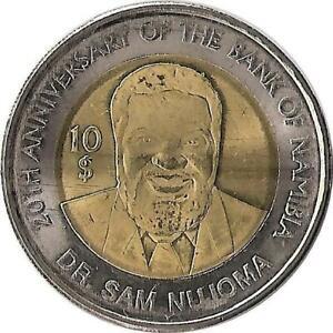 """Münzen Afrika Jubiläum Der Zentralbank"""" Namibia 10$ 2010 """"20"""
