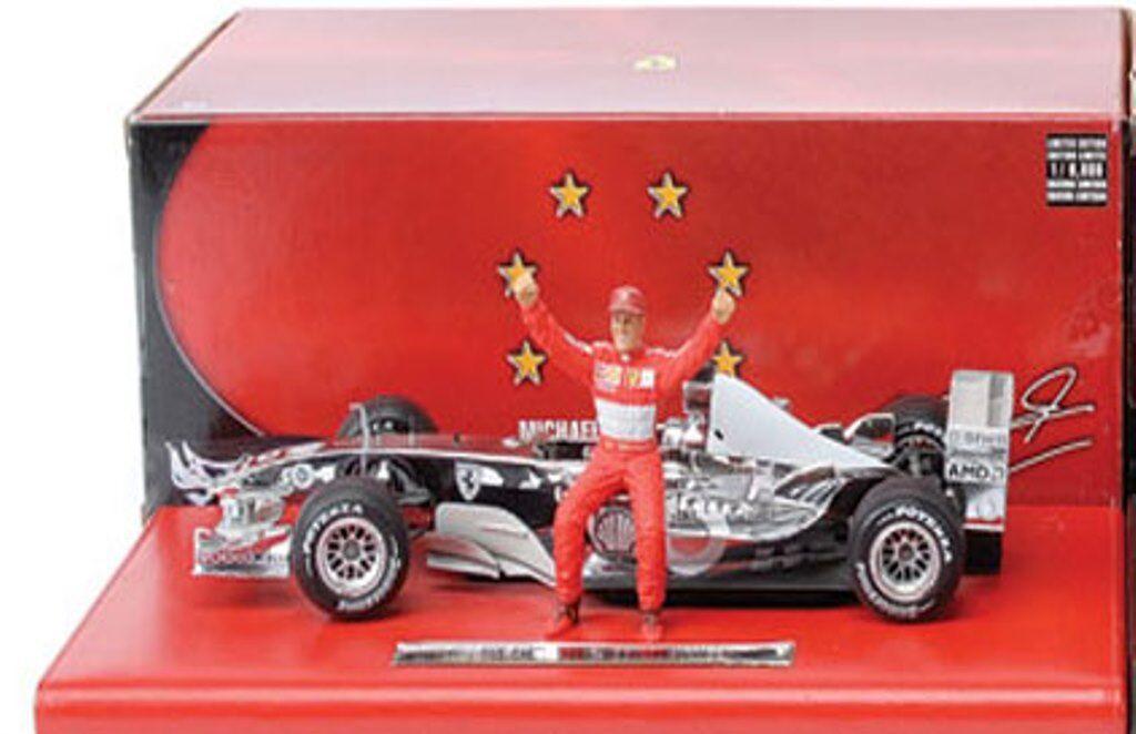 Mattel Michael Schumacher FERRARI FORMULA 1 cours moulé modèle voitures de course 1 18 ème F1