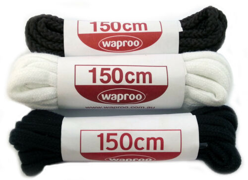 Work Boots Football Boots WAPROO 150CM CORDED Shoe Lace SPORTS SHOELACES