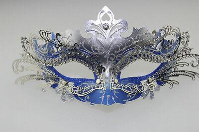 CUT LASER Metal Filigree Collection Venetian Masquerade with Rhinestones Mask