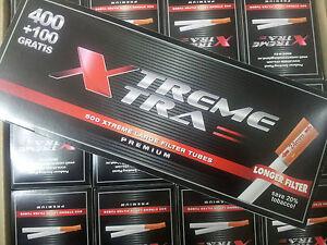 8000 Tubos vacíos para tabaco de liar Xtreme Xtra con filtro de 24mm