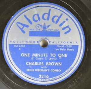Hear-Blues-78-Charles-Brown-One-Minute-To-One-Please-Don-039-T-Drive-Me-Away-On