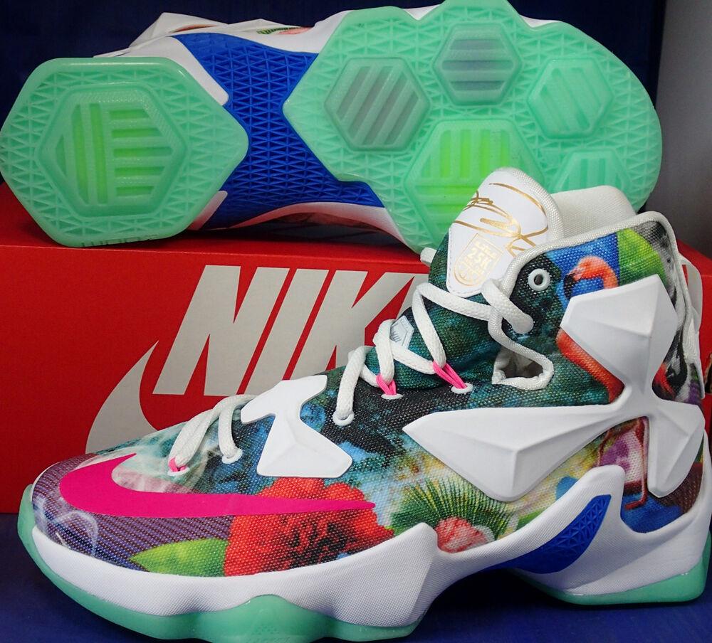 Nike Lebron XIII 13 25K Point Club QS iD Flamingo Floral  Chaussures de sport pour hommes et femmes