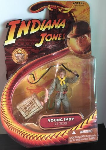 "YOUNG INDY Indiana Jones 3.75/"" Action Figure Hasbro Last Crusade!!"