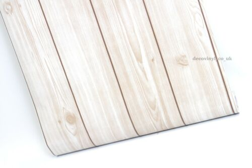 NATURAL WOOD STICKY BACK PLASTIC VINYL PVC SELF ADHESIVE WALLPAPER FABLON BEIGE