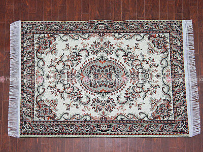 "Carpet Rug Oriental Persian Design Mini Size 6.1""x3.8"" Dollhouse Miniature 1:12"