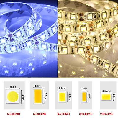 5M SMD 600 LED 3014 3528 5050 5630 8520 Waterproof Flexible Strip Light White DC