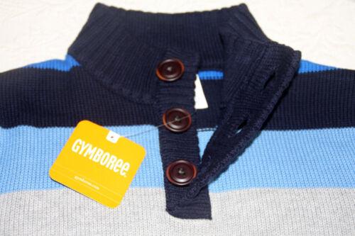 NEW Gymboree Boys Striped Knit Sweater 100/% Cotton